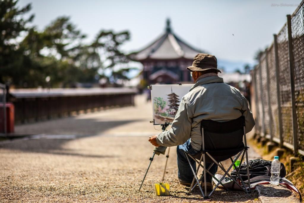 Painting in Nara